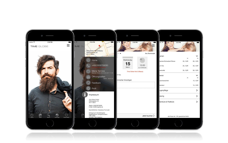 Salon-App von Time Globe