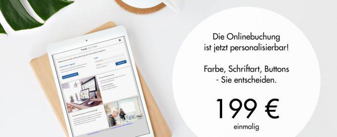 Personalisierbare Onlinebuchung